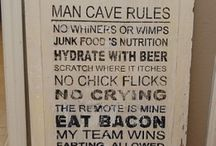 Creates for Hubby's Man Cave / by Alysha Johnson