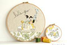 embroidery hoops / art in embroidery hoops. pretty straightforward, really. / by Johanna Hatlestad