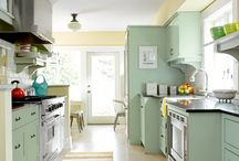 kitchen ideas for the shoe string budget / new paint in the living room just opened a can of worms... / by Marla Covey