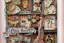 Printery Trays, Shadow Boxes and Configuration Trays! / This board has all kind of altered art that has a base of boxes, circles and anything with a depth to it. If there is art created in it's insides, it will be here!! LOL / by Jules Aviles