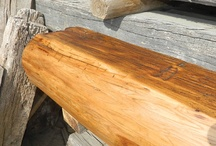 Fireplace Mantels: In-Stock / Fireplace mantel beams, rustic fireplace mantels, and old barn beams. Lots of neat old reclaimed beams from barns and log cabins. Some metal additions as well. Note, click on image to enlarge; click on large image to see an entire set of pictures. / by Antique Woodworks