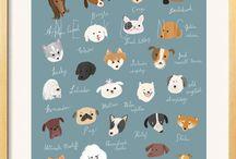Dog Illustrations / by Bex Brands