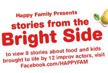 """Stories from the Bright Side / Happy Family wants to encourage you to live on the Bright Side for yourself and your family. We present you with """"Stories from the Bright Side"""". Our stories shine a humorous light on situations that all parents have experienced around feeding. Our Stories from the Bright Side bring these moments to life and turn frustrations into funnies. Share your """"Bright Side"""" stories with us and you could #WIN $20,000 towards your child's college fund. #HFBrightside #brightsidestories / by Happy Family Organic Superfoods"""