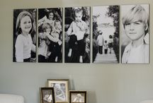 Picture Display Ideas / Picture Display Ideas, Portrait display, Photo Collages, Photo Wall Display / by Erin  Rachel Photography = Photography Tips and Tricks