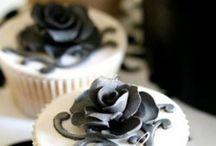 Black & White Cakes / Black and White Cake Designs. #caljava / by CaljavaOnline.com