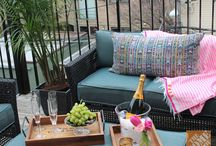 patios with pop / Inspiration for furniture, accessories and layout / by Jennifer O'Brien