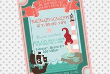 Mia is turning 4! ~Mermaids & Pirates~ / by Anika Fasavalu