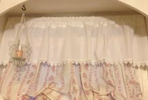 Shabby Chic curtains / by Pam Taylor