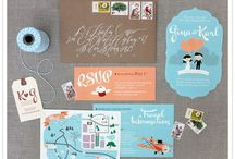wedding - invites and paper goodies / by Christy {One Handspun Day}