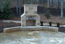 Backyard Fireplace / Backyard Fireplace for outdoor living / by Roger Worsham