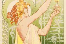 Art Nouveau Inspiration / Art the nouveau way / by Sara P. Boyd