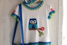 Children T-Shirt Dresses / by Maggie's Crochet