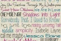 Fonts & Word Art / by Sarah Armstrong