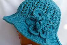 crocheted adult hats and gloves / by Dorothy Gerlach