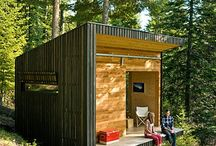 Cabins, Rustic dwellings, and Tiny houses / by Holley Gower Dalman