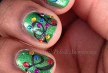 Christmas/Winter Nails / by Kristy Wearshing