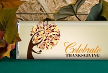 Thanksgiving Traditions / Being thankful and spending time with family and friends is what Thanksgiving is all about. Don't forget the turkey– oh and the chocolate, of course.  / by Personalized HERSHEY'S® Chocolate Bars & Wrappers by WH Candy