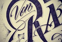 Hand Drawn Type / inspiring letter forms / by Pattie Belle Hastings