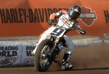 """2014 Flat Track Finals / The 2014 Law Tigers Flat Track Finals served as the last stop on the AMA Pro Flat Track tour. L.A. County Fairplex did not disappoint with a fast """"hairpin"""" style racetrack. / by AMA Pro Flat Track"""