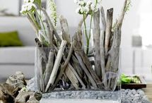 use nature to decorate / go outdoors to find decor for the home. I love using rocks and tree branches in the home. / by Carol Boyd