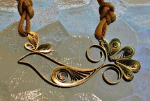 Quilled Jewelry / Paper Jewelry made primarily with quilling paper. / by Molly Smith