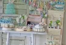 Shabby chic boy baby shower / by Brittany Schwaigert ~GreyGrey Designs