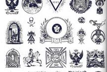Occult Symbols and Logos / A collection of icons, symbols, logos, glyphs, runes, sigils, geometry, lines, textures, patterns, and ephemera relating to the occult, conspiracies, religion, spirituality, culture, life, and death. / by Jeff Finley
