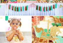 Sadie's 1st Birthday / Cupcakes & Carousels <3 Cute vintage carousel inspired party, treats, and deco / by Lindsey Dacey