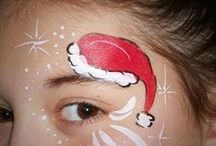 Face painting Christmas / Christmas quick / by Bonnie Moran
