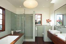 bathrooms . badezimmer / by Katharina .
