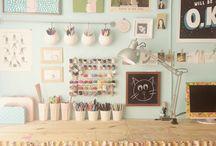 Craft area remake / by Faith Damstrom