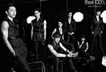 100% (백퍼센트) / 100% (백퍼센트) is a 7-member South Korean boy group that debuted in September 2012 with their first single album We, 100%. Seo Minwoo (서민우) Born: February 8, 1985, Vocalist, Leader.  Kim Rokhyun (김록현) Born: February 10, 1991 Main Vocalist. Jo Jonghwan (조종환) Born: November 23, 1992 Vocalist. Kim Chanyong (김찬용) Born: April 29, 1993 Rapper. Woo Changbum (우창범) Born: October 7, 1993 Rapper. Jang Hyukjin (장혁진) Born: December 20, 1993 Vocalist. Lee Sanghoon (이상훈) Born: December 23, 1993 Vocalist, Maknae. / by Usako Choi