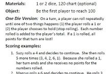 Dice games and printables / by Terria Ashby