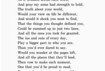 Poems / by Yasenia Mayén