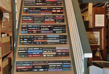 LIBRARY-BOOKSHELVES / by Margaret Mullins