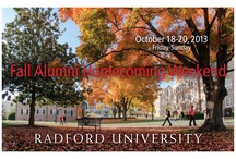 Fall Homecoming 2013 / All the information you need to know to celebrate Fall Homecoming at Radford University! / by Radford University Alumni Association
