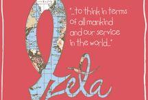 Zeta tau Alpha / by Jillian Bowers