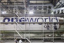 Painting a Qatar Airways Boeing 777 with oneworld livery / How does an aircraft receive livery? Here's a behind-the-scenes look of our Boeing 777 receiving the oneworld livery in Ireland. / by Qatar Airways