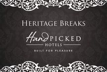 Heritage Breaks / Our Heritage Breaks include the perfect package for an ideal stay away in a country house hotel / by Hand Picked Hotels