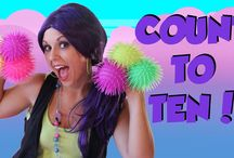 Counting for Kids Thumbnails! / These are the thumbnail images for Tayla's Counting for Kids videos! / by Tea Time with Tayla