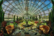 Atriums, Conservatories & Greenhouses / by Dutch Bros. Garage