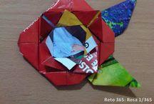Reto 365 Origami / Este fue el reto de 365 días que he estado haciendo durante el año 2013, selecciono diseños, los realizo, les tomo una foto y luego los publico.  / by Verónica Arenas Benavides