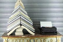 Bookish Christmas Trees / Festive Book Displays / by Amanda Patterson