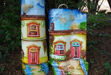 Decorated Roof tile - tejas decoradas / by Esther Sanchez Mateu