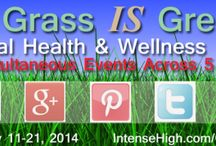 The Grass IS Greener Virtual Health & Wellness Expo / From Feb 11-21, 2014 find deals and specials from health & wellness experts on the Expos' Pinterest, Twitter, Facebook, Google + pages and Youtube playlist.  http://IntenseHighExpos.com/GIG/ / by Intense High