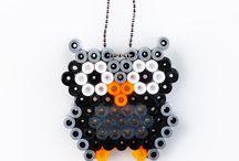 Hama perler / Diverse mønstre og inspiration til perleplader og syning med hama perler / by Diana Bach Frederiksen