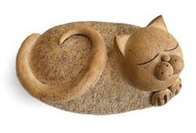 Cat items / objects 2 / figurines, collectibles, pillows, etc., etc.  / by Ria Zonneveld