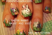 EASTER nail art pics with tutorials & ST. PADDIES NAIL ART / here is a board for all of my easter nail art and st. patricks day nail art. thousands of nail art tutorials are here. please click link and a tutorial comes up for every picture. spread the word and thanks for being pinterested in my art!!! xoxo / by Robin Moses