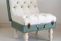 Suitcases - Trunks / A collection of neat, creative and colorful ways to recycle suitcases into unique home decor items. / by Brianna Lawrence
