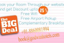 Delhi Hotel offers and Discounts / Summer Season in the Country Knocking ahead.Every Body looking for some extra perks n discounts in this season.so if you are heading towards delhi in next few days.so please have a look on these deals.The deals designed for you. / by Hotel Grand Godwin